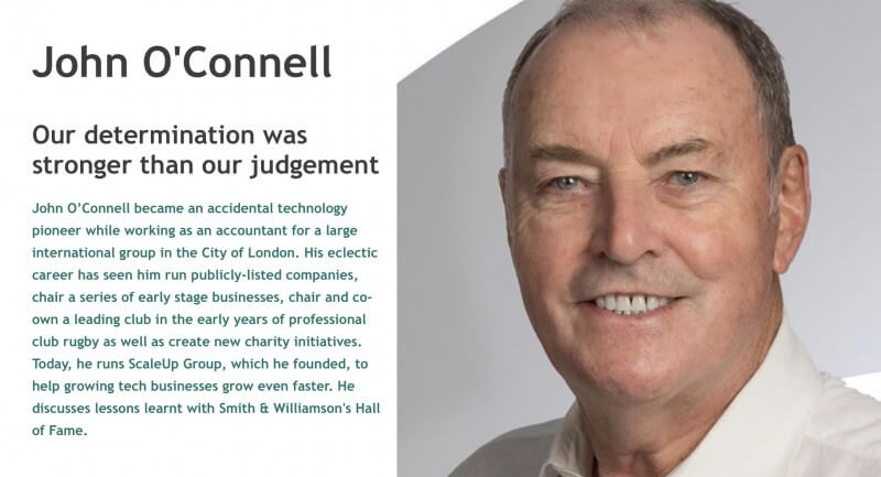 ScaleUp Group Chairman John O'Connell recognised in Entrepreneur Hall of Fame